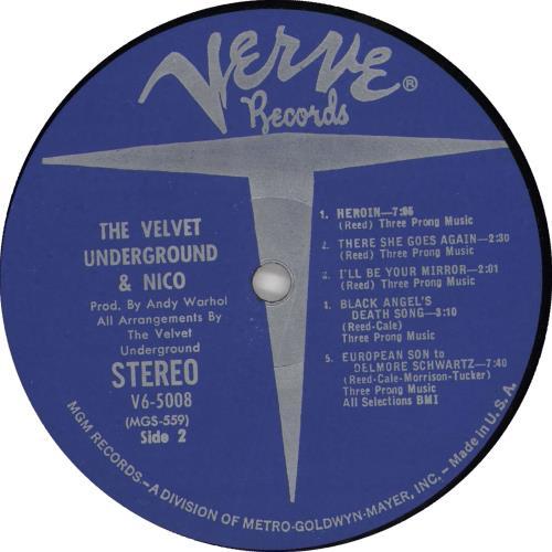 Velvet Underground The Velvet Underground & Nico vinyl LP album (LP record) US VUNLPTH722486