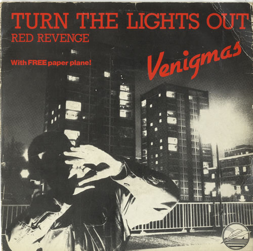 "Venigmas Turn The Lights Out - P/S 7"" vinyl single (7 inch record) UK VGZ07TU599374"