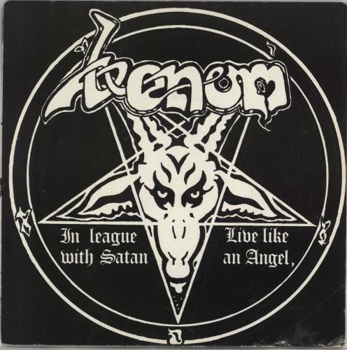 "Venom In League With Satan - EX 7"" vinyl single (7 inch record) UK VNM07IN766283"