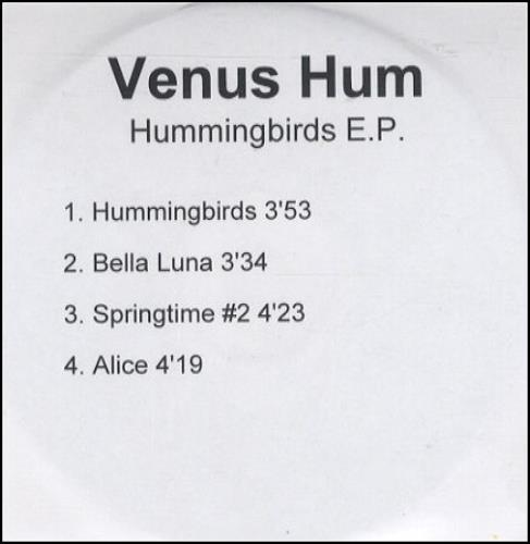 Venus Hum Hummingbirds EP CD-R acetate UK VHUCRHU274429