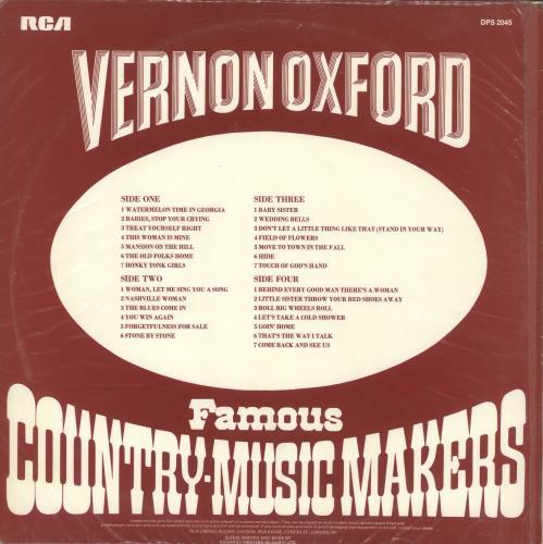 Vernon Oxford Famous Country-Music Makers 2-LP vinyl record set (Double Album) UK VED2LFA717782