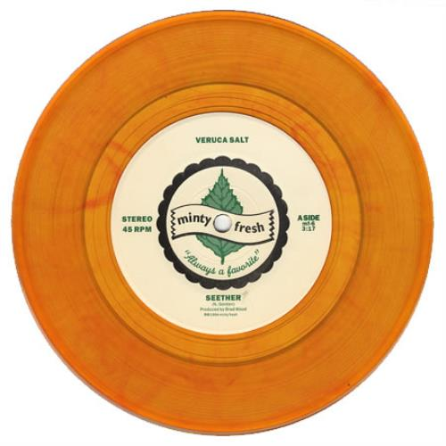 "Veruca Salt Seether - Orange vinyl 7"" vinyl single (7 inch record) US VES07SE251545"