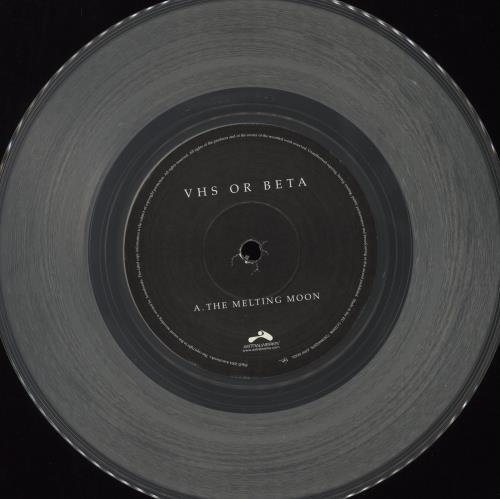 "Vhs Or Beta (Band) The Melting Moon - Clear Vinyl 7"" vinyl single (7 inch record) UK VA507TH413232"