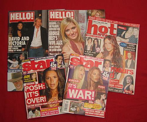 Victoria Beckham Collection Of 5 Magazines magazine UK VBKMACO353974