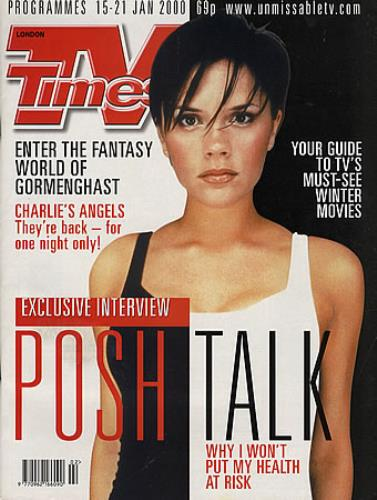 Victoria Beckham TV Times - January 2000 magazine UK VBKMATV364762
