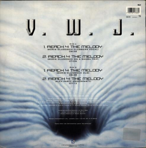 "Victoria Wilson-James Reach 4 The Melody 12"" vinyl single (12 inch record / Maxi-single) UK VMD12RE704956"