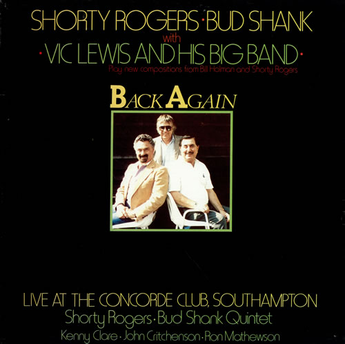 Vic Lewis Back Again vinyl LP album (LP record) US VB-LPBA476163