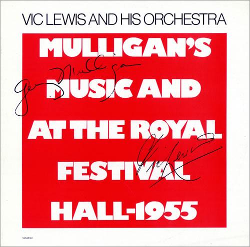 Vic Lewis Mulligan's Music And At The Royal Festival Hall - 1955 vinyl LP album (LP record) UK VB-LPMU475420