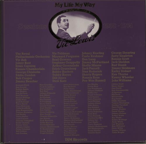 Vic Lewis My Life My Way - Sessions 1938-1974 - Test Pressing Vinyl Box Set UK VB-VXMY649108