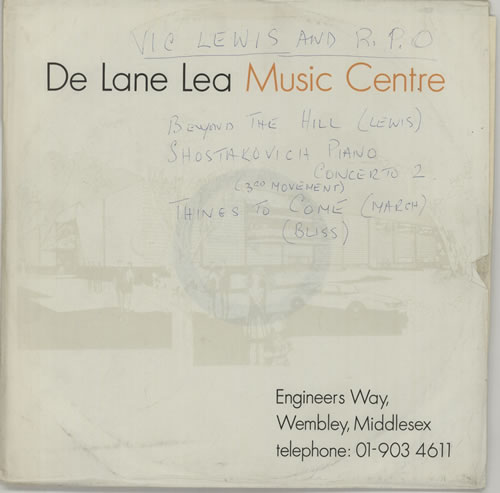 Vic Lewis Vic Lewis And The Royal Philharmonic Orchestra acetate UK VB-ATVI632533