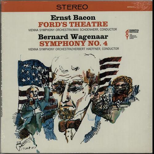 Vienna Symphony Orchestra Bacon: Ford's Theatre / Wagenaar: Symphony No. 4 - Sealed vinyl LP album (LP record) US XJ0LPBA632944