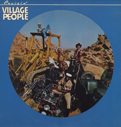 "Village People Cruisin' 12"" vinyl picture disc 12inch picture disc record US VIL2PCR401581"