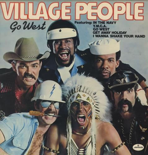 Village People Go West vinyl LP album (LP record) UK VILLPGO242144