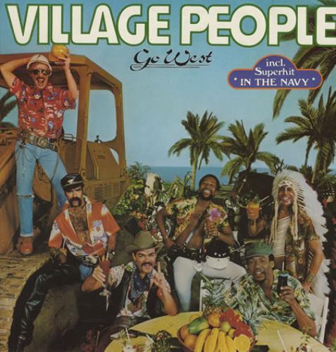 Village People Go West vinyl LP album (LP record) German VILLPGO355791