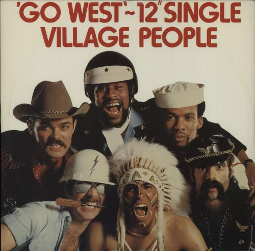 "Village People Go West 12"" vinyl single (12 inch record / Maxi-single) UK VIL12GO39173"