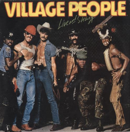 Village People Live And Sleazy 2-LP vinyl record set (Double Album) UK VIL2LLI730848