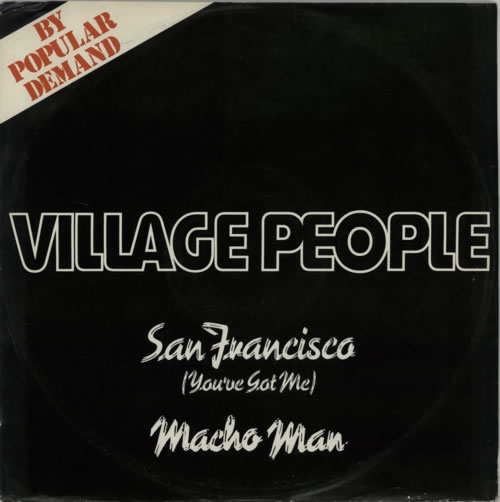 "Village People San Francisco (You've Got Me) / Macho Man 12"" vinyl single (12 inch record / Maxi-single) UK VIL12SA388336"