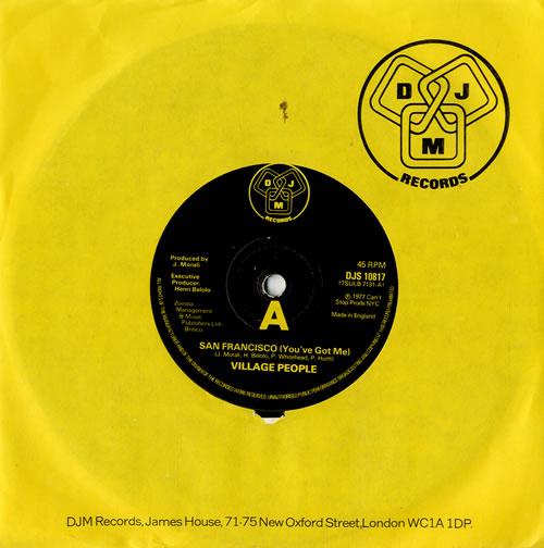 "Village People San Francisco (You've Got Me) 7"" vinyl single (7 inch record) UK VIL07SA573684"