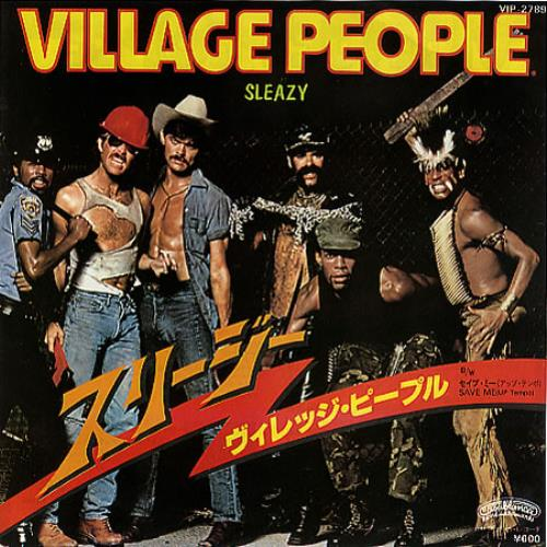 "Village People Sleazy 7"" vinyl single (7 inch record) Japanese VIL07SL207545"
