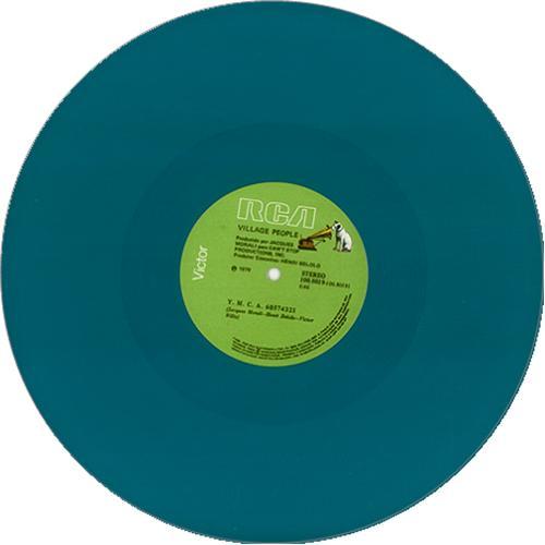 "Village People Y.M.C.A. - green vinyl 12"" vinyl single (12 inch record / Maxi-single) Brazilian VIL12YM232461"