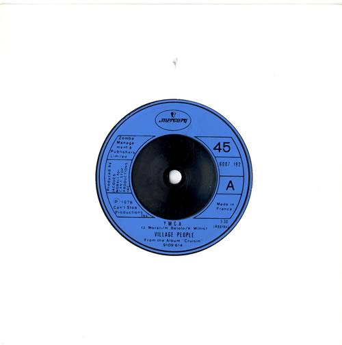 "Village People Y.M.C.A. 7"" vinyl single (7 inch record) French VIL07YM577274"