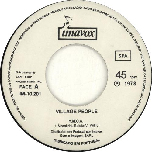 "Village People Y.M.C.A. 7"" vinyl single (7 inch record) Portugese VIL07YM702132"