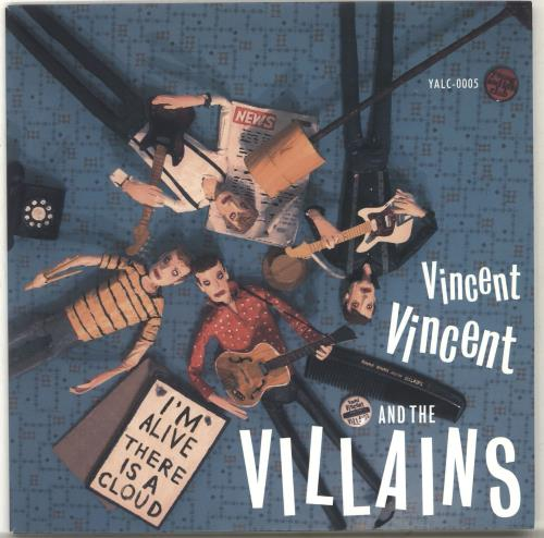 """Vincent Vincent And The Villains I'm Alive / There Is A Cloud 7"""" vinyl single (7 inch record) UK VBA07IM701965"""