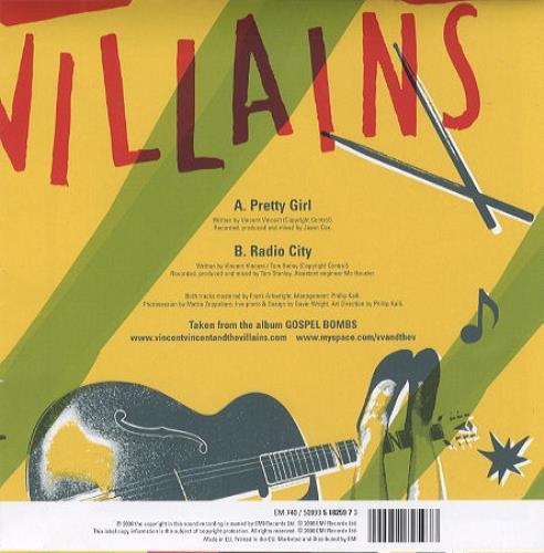 "Vincent Vincent And The Villains Pretty Girl 7"" vinyl single (7 inch record) UK VBA07PR428210"