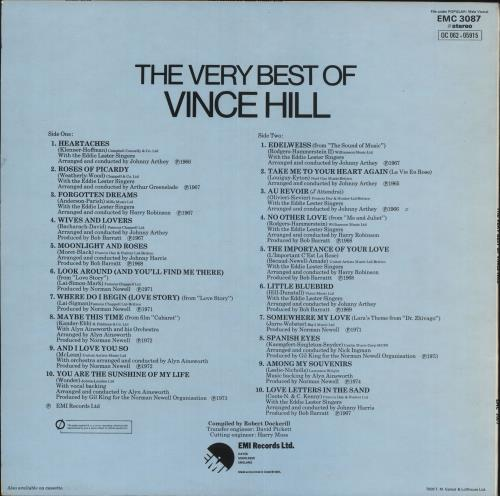Vince Hill The Very Best Of Vince Hill vinyl LP album (LP record) UK VH2LPTH741921