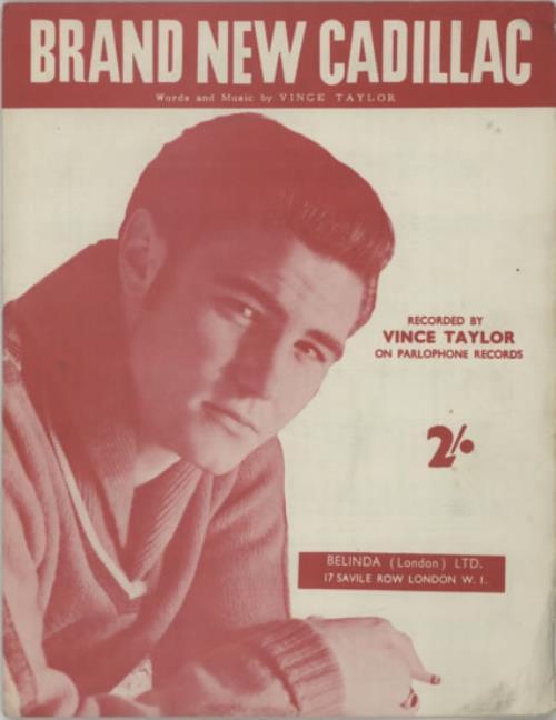 Vince Taylor Brand New Cadillac sheet music UK VI-SMBR604691