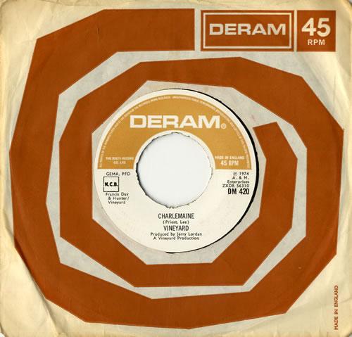 "Vineyard Charlemaine - NOC 7"" vinyl single (7 inch record) UK VM007CH561471"