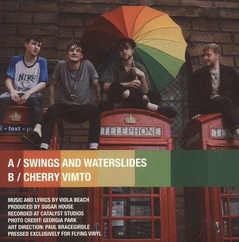 "Viola Beach Swings & Waterslides 7"" vinyl single (7 inch record) UK YJR07SW739426"