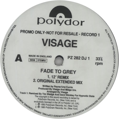 "Visage Fade To Grey '93 - Double Pack 12"" vinyl single (12 inch record / Maxi-single) UK VIS12FA604351"