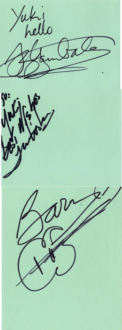 Vital Information Pages Of An Autograph Book memorabilia UK VZYMMPA601593
