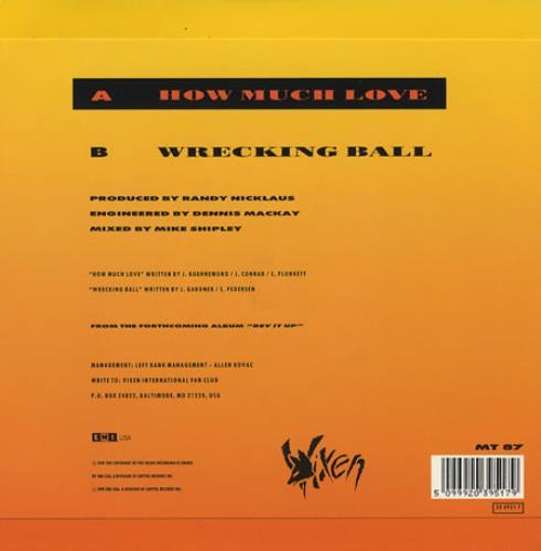 Vixen How Much Love Us 7 Quot Vinyl Single 7 Inch Record