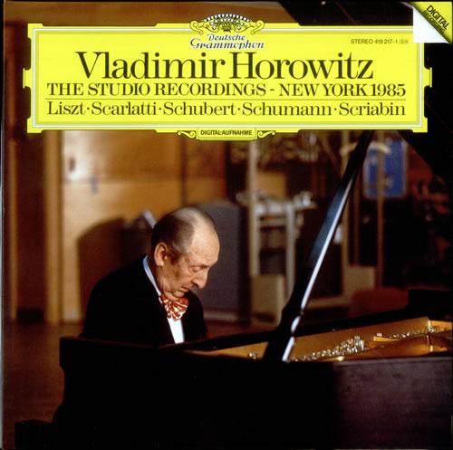 Vladimir Horowitz The Studio Recordings - New York 1985 vinyl LP album (LP record) German VL0LPTH527090