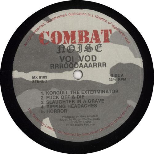 Voivod Rrroooaaarrr vinyl LP album (LP record) US VVDLPRR740244