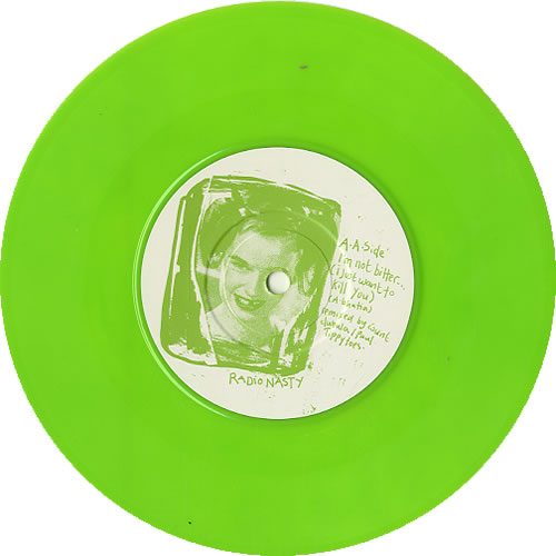 "Voodoo Queens F Is For Fame - Lime Green Vinyl 7"" vinyl single (7 inch record) UK VA407FI624491"