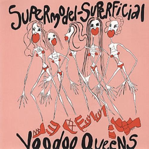 "Voodoo Queens Supermodel Superficial - Red Vinyl 7"" vinyl single (7 inch record) UK VA407SU316835"