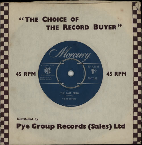 "Voxpoppers The Last Drag 7"" vinyl single (7 inch record) UK VX007TH571828"