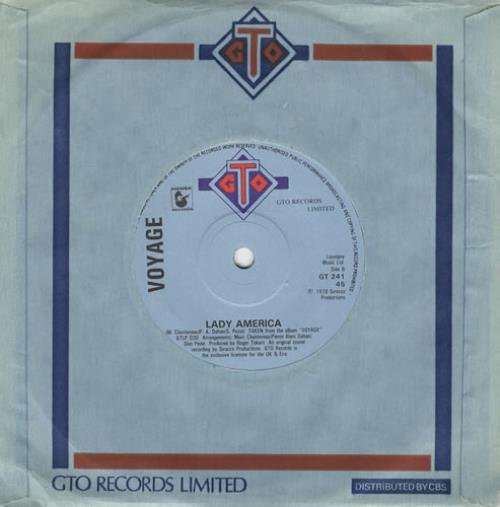 """Voyage Souvenirs 7"""" vinyl single (7 inch record) UK VOY07SO324829"""