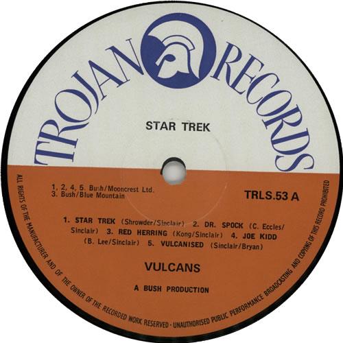 Vulcans (Reggae) Star Trek vinyl LP album (LP record) UK XULLPST638099
