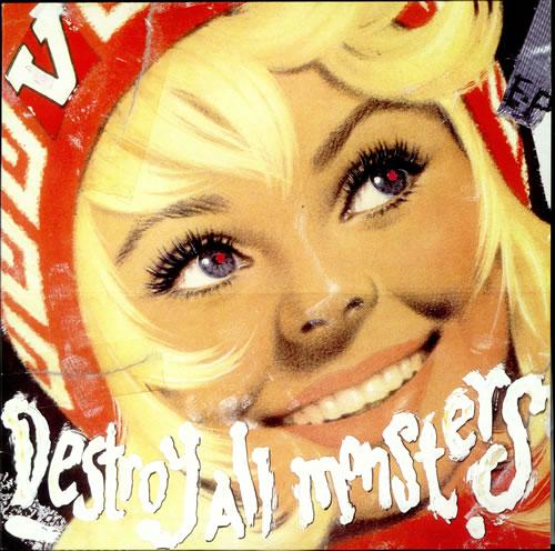 "V (Indie) Destroy All Monsters EP - Lime Green Vinyl 12"" vinyl single (12 inch record / Maxi-single) UK VCB12DE506259"