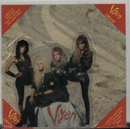 Vixen Cryin' shaped picture disc (picture disc vinyl record) UK VIXSHCR70240