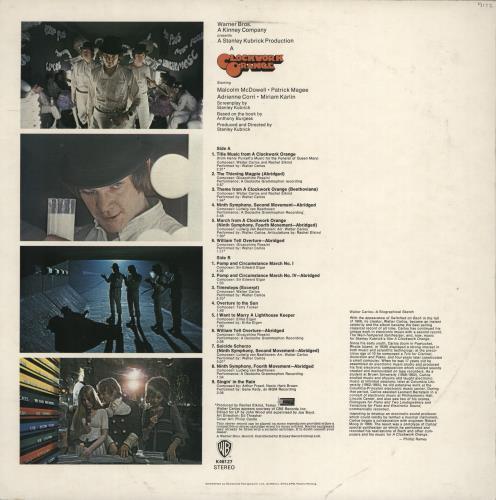 Walter Carlos A Clockwork Orange - 1st vinyl LP album (LP record) UK WCLLPAC132656