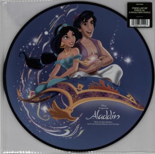 Walt Disney Aladdin - 180gm picture disc LP (vinyl picture disc album) UK W-DPDAL613351