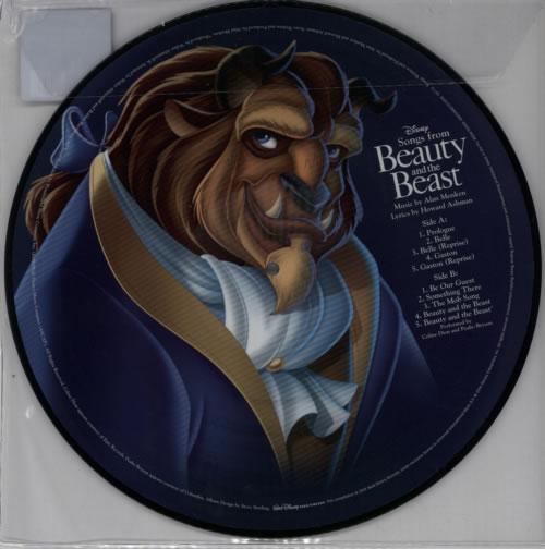 Walt Disney Beauty & The Beast - 180gm picture disc LP (vinyl picture disc album) UK W-DPDBE613350