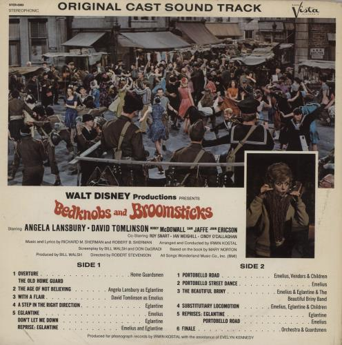 Walt Disney Bedknobs And Broomsticks vinyl LP album (LP record) US W-DLPBE761968