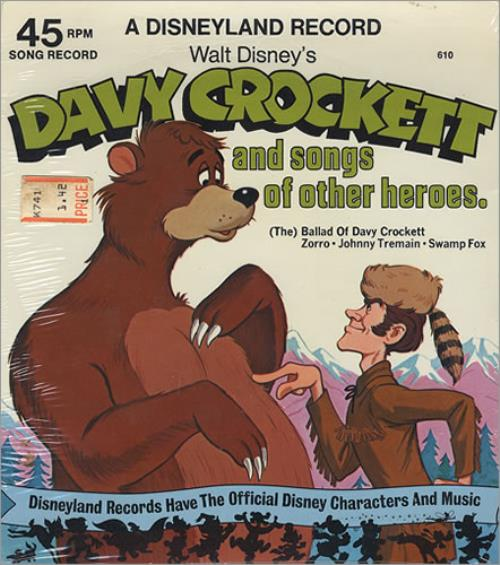 """Walt Disney Davy Crockett And Songs Of Other Heroes EP - Sealed 7"""" vinyl single (7 inch record) US W-D07DA364019"""