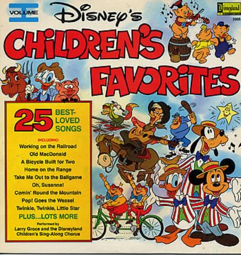 Walt Disney Disney S Children S Favorites Volume I Us Vinyl Lp
